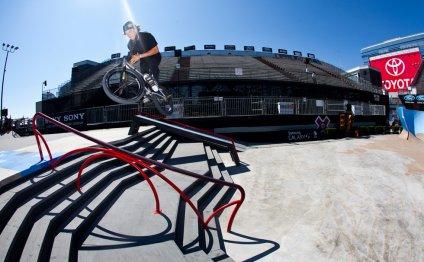 BMXer Dennis Enarson doing a