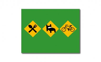 Eat Sleep Bicycle Road Signs