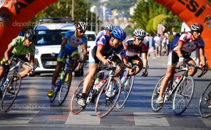 Road bicycle racing in Alanya