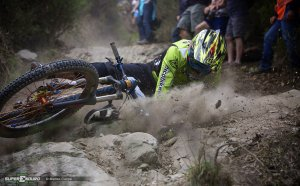 Downhill bike Crash