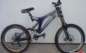 First downhill bike