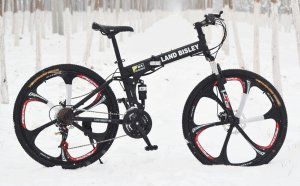 Folding mountain bicycles