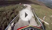 2013 Downhill mountain bike world cup helmet cam from Fort