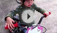 6 and 2 Yr Old Kids Practicing on BMX Race Bikes - 2