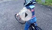 Alfie Shinn rides his redline micro mini race bike for the