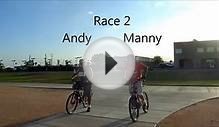 Bicycle Drag Race: Andy vs. Manny