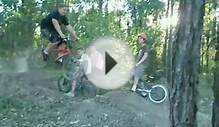 fat kid crashes bmx bike
