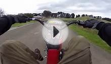 Honda Crf50 on a BMX track with some nice wheelie