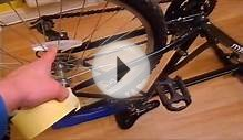 How to paint bicycle rims without removing wheel and rim