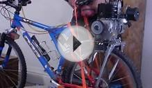 Test run of my silly motorized mountain bicycle project